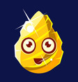 golden egg-shaped cute fantastic character with vector image vector image