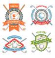 golf club logos vector image