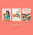 happy mothers day templates for card vector image