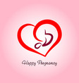 happy pregnancy logo vector image vector image