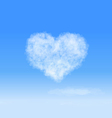 Heart cloud vector image vector image