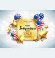 independence day sale banner with golden stars anf vector image vector image