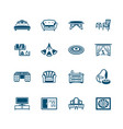 interior and furniture icons - micro series vector image vector image