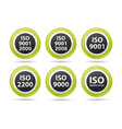 iso icons vector image vector image