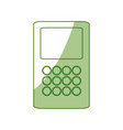 isolated money dataphone vector image vector image