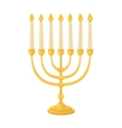 Jew candle vector image vector image