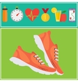 Jogging and running concept flat icons vector image vector image