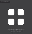 list premium icon white on dark background vector image