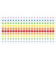 lock shape halftone spectrum effect vector image