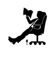 man businessman sitting in a modern chair with vector image vector image