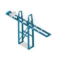 Maritime Inland Container Terminal Isolated vector image
