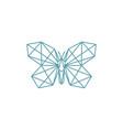 monoline butterfly logo vector image