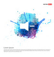 mute volume icon - watercolor background vector image vector image