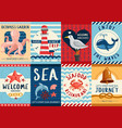nautical banners and posters set vector image vector image