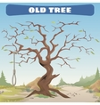 Old dead tree with the gallows Wild West vector image vector image