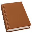 Old leather book vector image vector image