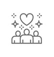 people with big heart shape donations vector image