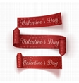 Realistic Valentines Day red Ribbons Set vector image vector image