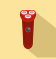 red electric razor icon flat style vector image