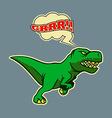 Retro Running Dinosaur vector image vector image