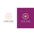 round flower beauty logo vector image vector image