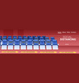 rows blue seats in empty theater auditorium vector image vector image