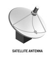satellite antenna tv channels provision and vector image vector image