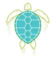 sea turtle continuous line vector image vector image