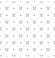 Seamless black pattern with crossed arrows vector image
