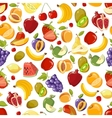 Seamless summer juicy fruit and berries vector image