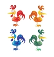 set cocks isolated on white background vector image