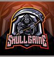 skull grime esport mascot logo vector image vector image