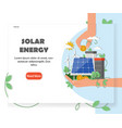 solar renewable energy website design vector image