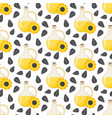 sunflower oil seamless pattern vector image vector image