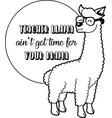 teacher llama on white background vector image