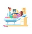 ultrasound a pregnant woman vector image vector image
