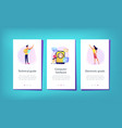 user guide app interface template vector image vector image