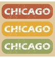 Vintage Chicago stamp set vector image vector image