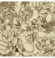 Vintage Monochrome Seamless Background Tropical vector image vector image