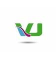 VJ logo vector image vector image