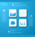web business charts infographics vector image vector image