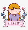 womens day celebration with flowers decoration vector image vector image