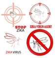 Zika Virus Sign Isolated vector image vector image