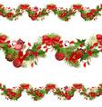 christmas set seamless borders for your design vector image