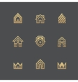 Houses logo set on black background