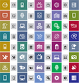 20 technical icons in two styles vector image