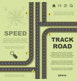 abstract roads background vector image vector image