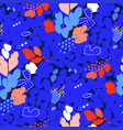 abstract seamless pattern with strokes dots vector image