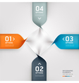 Abstract spiral infographics options banner vector image vector image