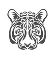 abstract tiger vector image